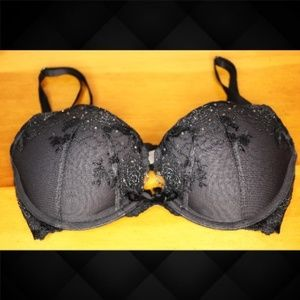 VS Dream Angels Pushup Blk/Rhinestone Bra
